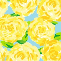 Lilly Pulitzer- First Impression Print in Yellow +100 Iphone
