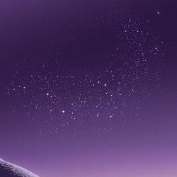 Mountain, wallpaper, galaxy, tranquil, beauty, nature, peaceful, calming, purple, night, stars, digital art, walls, s8 +100 Iphone