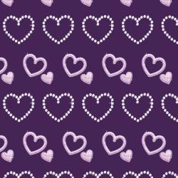 Purple rhinestone hearts +100 Iphone