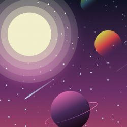 Space Illustration +100 Iphone