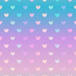 Gradient pastel heart wallpaper +100 Iphone
