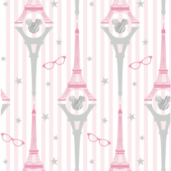 Parisian Minnie Mouse themed pattern by Yorkshire Bear Graphic Design and Illustration +100 Iphone
