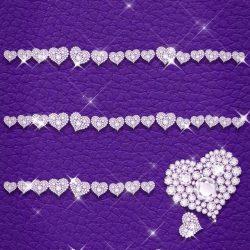 Purple Screen and Diamonds +100 Iphone