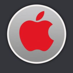 Red Apple Logo Label +100 Iphone
