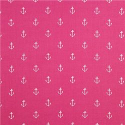 pink maritime anchor fabric by Michael Miller +100 Iphone