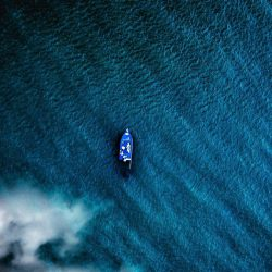 Boat in Ocean Aerial iPhone Wallpaper | +100 Iphone