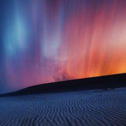 Desert Aurora in Night iPhone Wallpaper | +100 Iphone