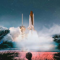 Kid Watching Space Shuttle launch iPhone Wallpaper | +100 Iphone