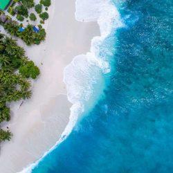 Maldives Beach Beautiful Aerial View iPhone Wallpaper | +100 Iphone