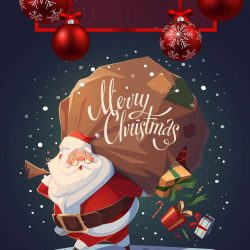 Merry Christmas Santa iPhone Wallpaper | +100 Iphone