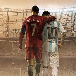 Messi and Ronaldo Football iPhone Wallpaper | +100 Iphone