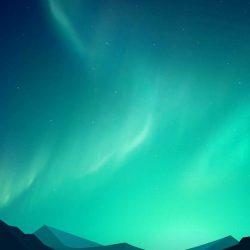 Minimal Aurora Sky Mountains iPhone Wallpaper | +100 Iphone