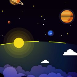 Minimal Solar System Clouds Planets iPhone Wallpaper | +100 Iphone