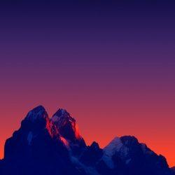 Mountains Minimal Sunset iPhone Wallpaper   +100 Iphone