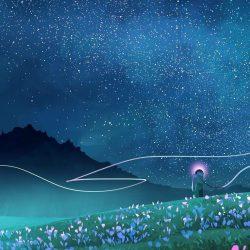 Night Sky Stars Beautiful Art iPhone Wallpaper   +100 Iphone