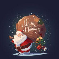 Santa Merry Christmas iPhone Wallpaper | +100 Iphone