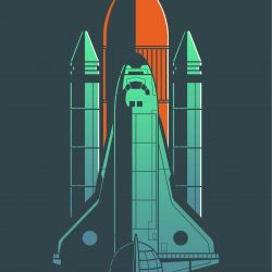 Space Shuttle Discovery Minimal iPhone Wallpaper | +100 Iphone