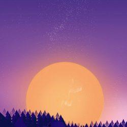 Winter Sunset Snow Minimal iPhone Wallpaper   +100 Iphone