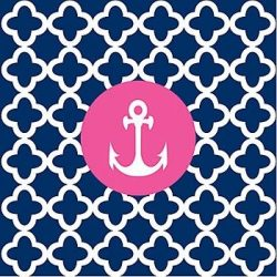 pink blue anchor +100 Iphone